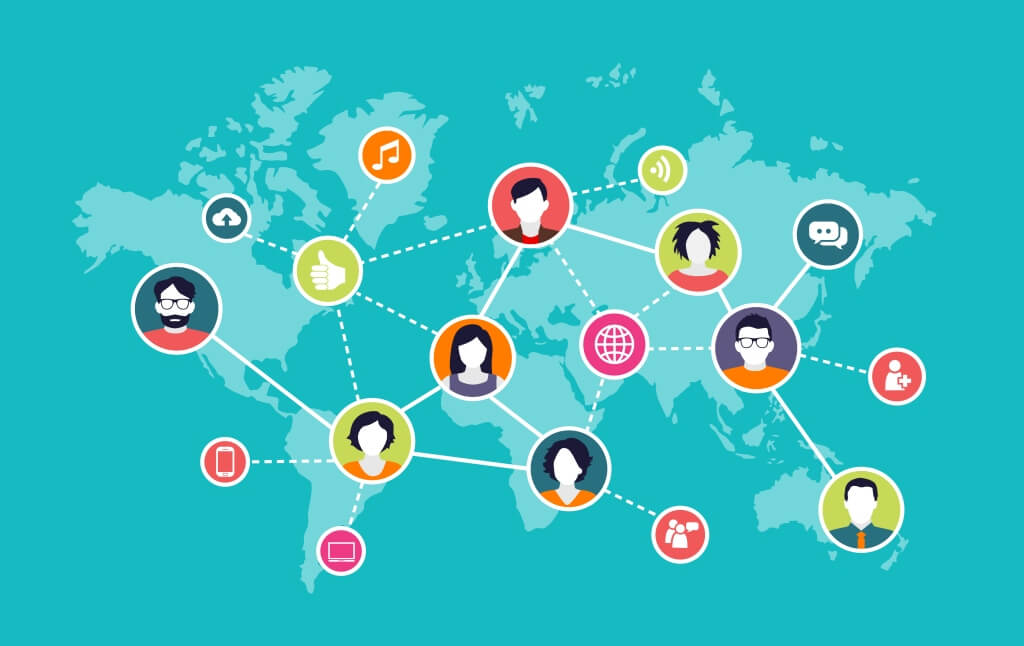 global team graphic showing collaboration